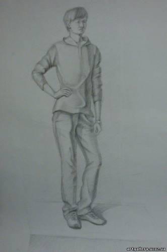 Нарисовать Человека В Полный Рост В Одежде